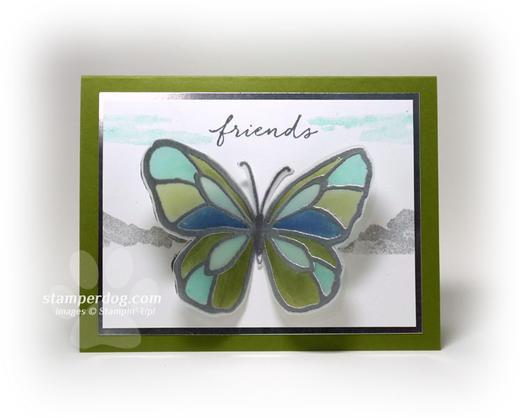 Butterfly Scenery Card
