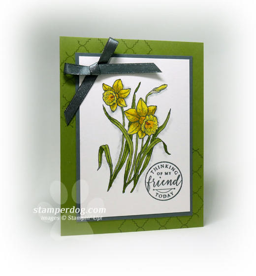 Watercolor Daffodils Card