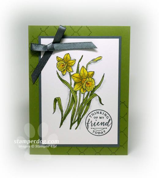 Watercolor Daffodils Card