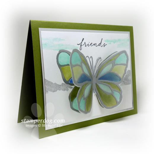 Butterfly Scenery Card