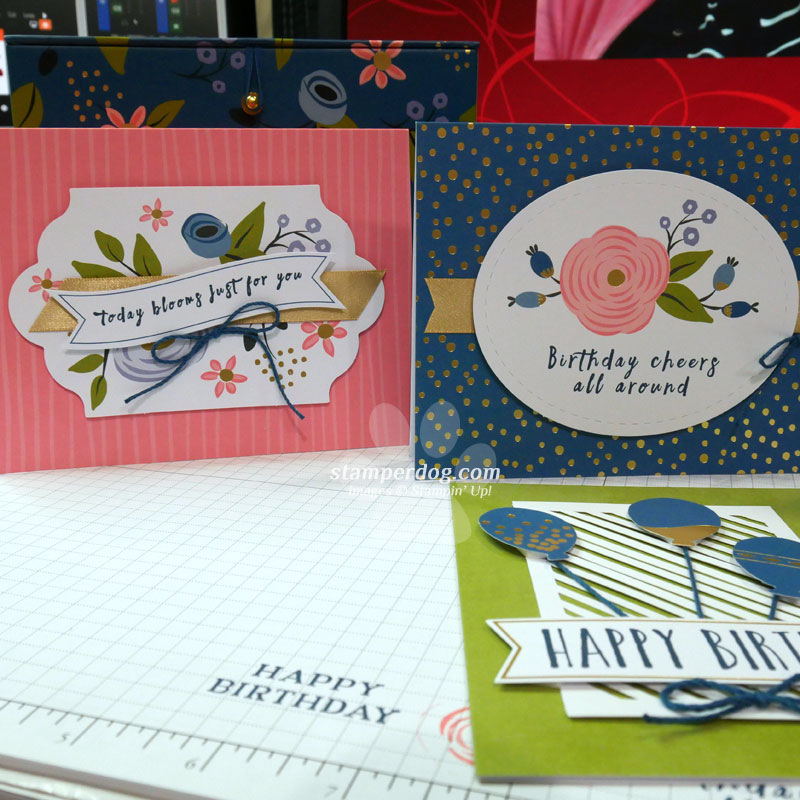 4 quick and easy birthday card ideas • stampin' up demo