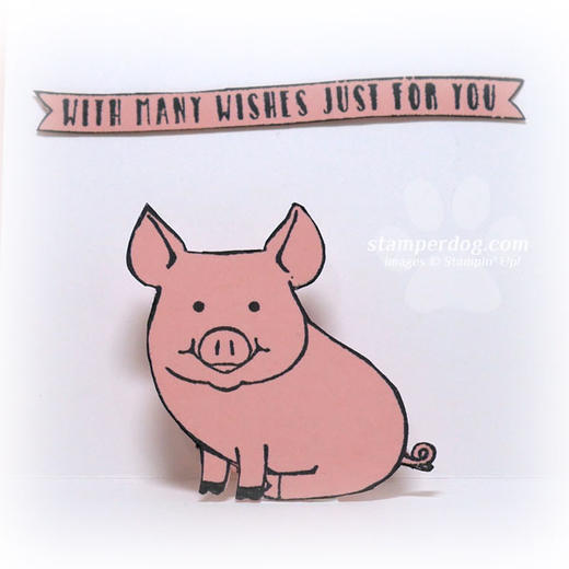 Pig Pop Up Card Idea
