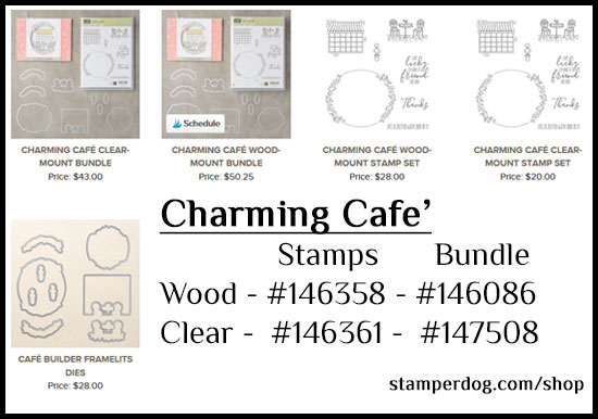 Charming Cafe Stamps