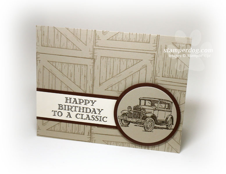 Masculine Birthday Card For Car Lovers O Stampin Up Demonstrator
