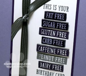 Easy Purple Birthday Card