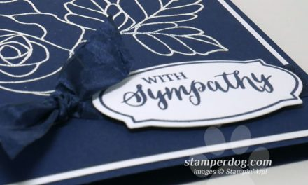 Navy Blue Sympathy Card