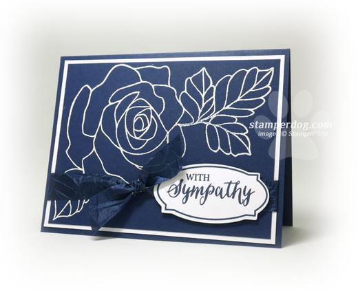 Navy Blue Sympathy Card