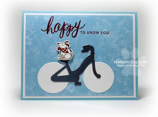 Dog and Bike Card