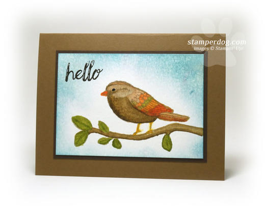 Watercolor Bird Card