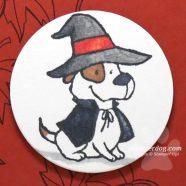 Sneak Peek Dog Halloween Card