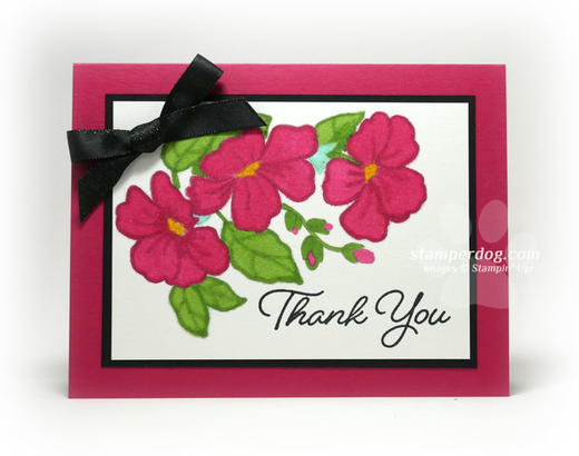 Whimsical Watercolor Thank You Card Idea