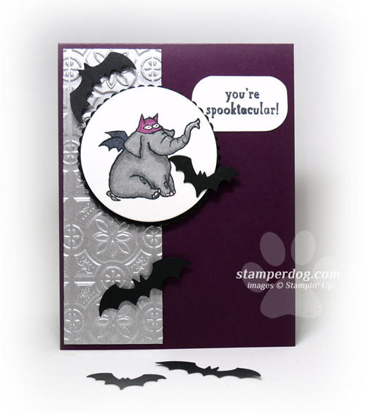 Elephant Halloween Card Idea
