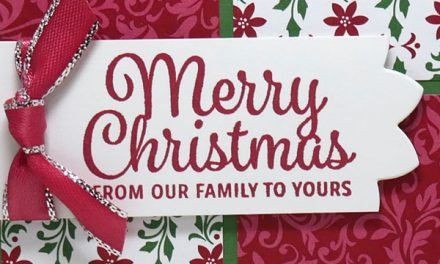 Quick and Easy Christmas Card Idea