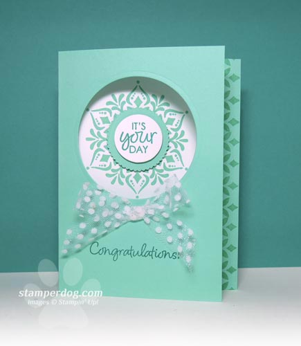 Sneak Peek Congratulations Card