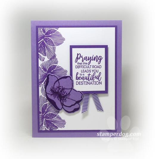 Purple Sympathy Card