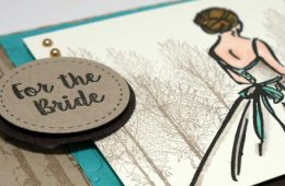Fall or Winter Wedding Card for the Bride
