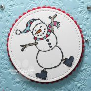 Dancing Christmas Snowman Card