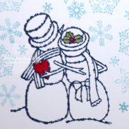 Snowy Christmas Gift Card Holder