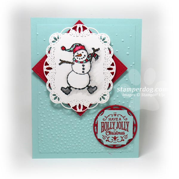 Building the Snowman Card