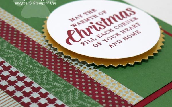 Quick and Easy Washi Tape Christmas Card