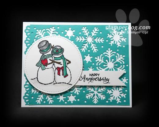Snowman Anniversary Card
