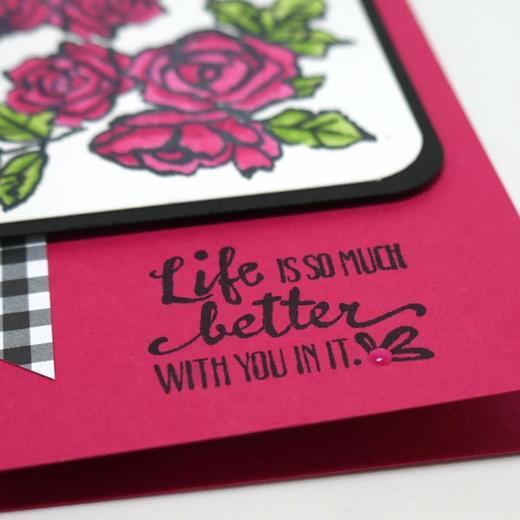 Watercolored Handmade Card
