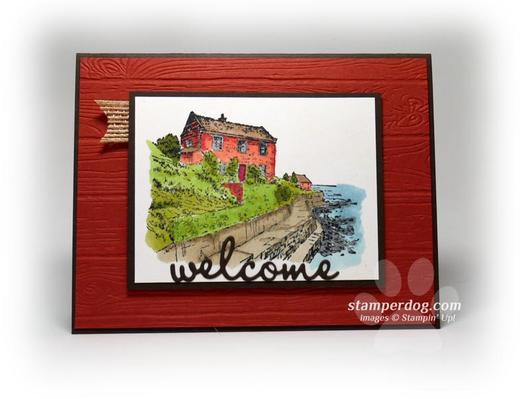 Watercolor Welcome Card