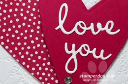 Making Valentines with Leftover Stamping Supplies