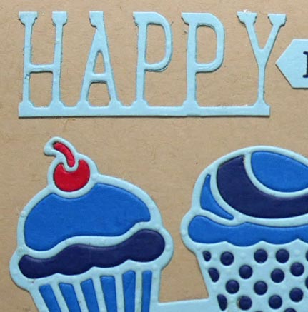 Masculine Blue Birthday Card