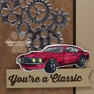 Making a Masculine Birthday Card for Car Enthusiasts