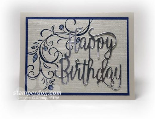 Masculine Silver Birthday Card