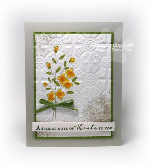 .Double Embossed Thank You Card