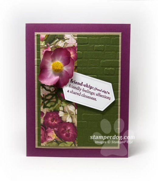 Washi Tape Flower Card Idea