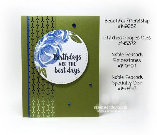 Blue and Green Birthday Card