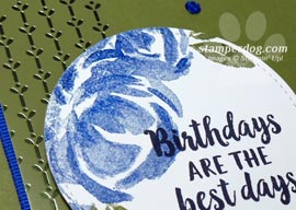 Blue and Green Birthday Card Moves Me