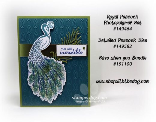 Card with a Peacock