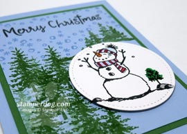 Snowman Christmas Card Sneak Peek