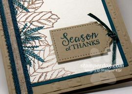 Fall Sneak Peek Card from the Holiday Catalog