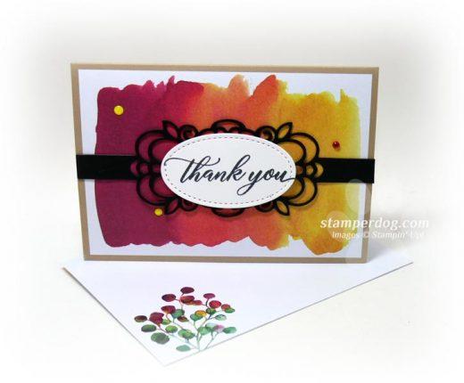 Paper Pumpkin Thank You Card