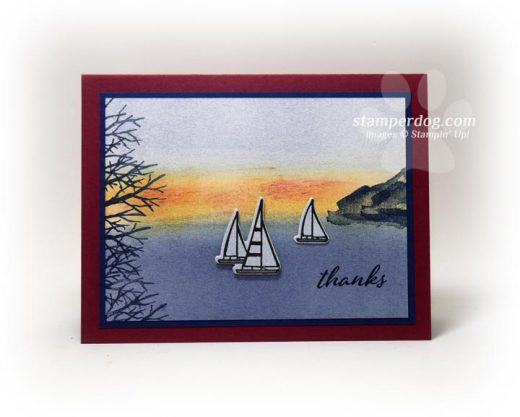 How to make a scenic greeting card