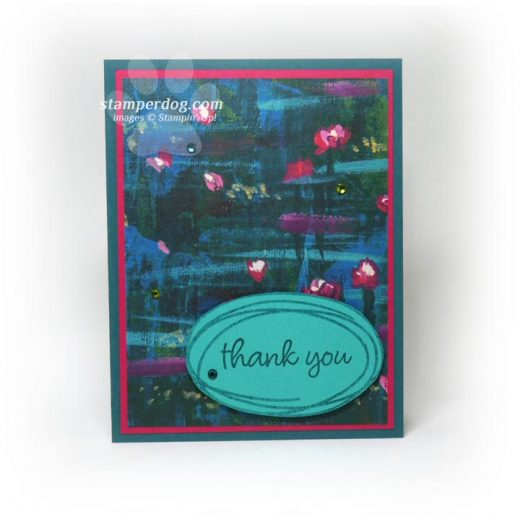 quick and easy sneak peek thank you card