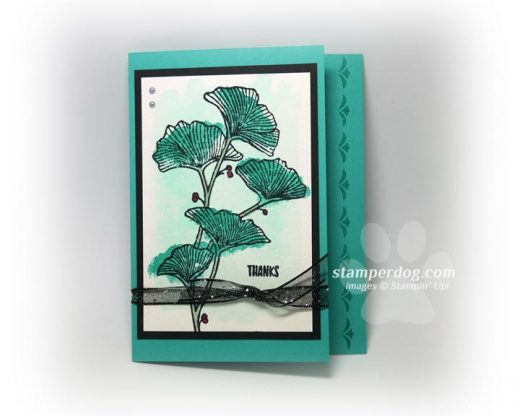 Monochrome Watercolor Flower Card