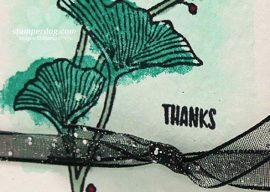 Monochrome Watercolor Flowers Card