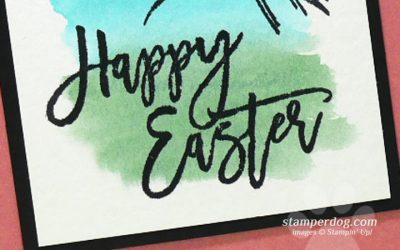 Watercolor Easter Card Idea
