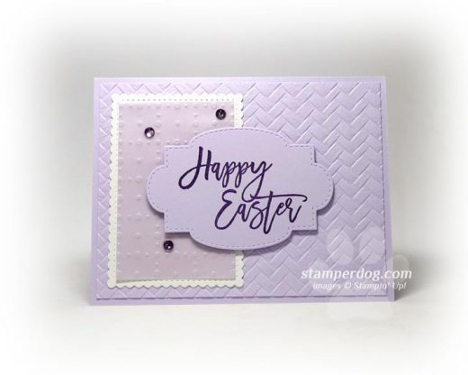 Purple Easter Card