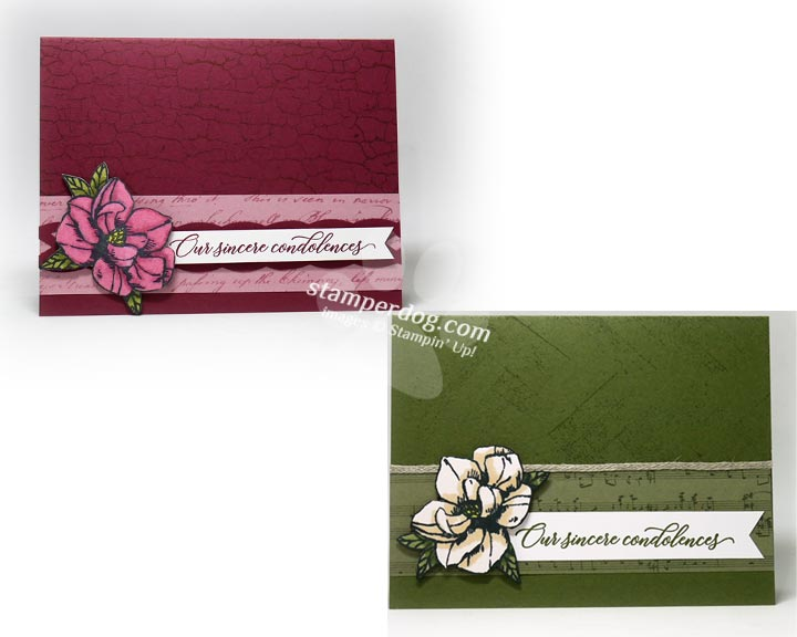 Two Sympathy Card Ideas from One Layout