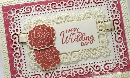 Rose Wedding Card