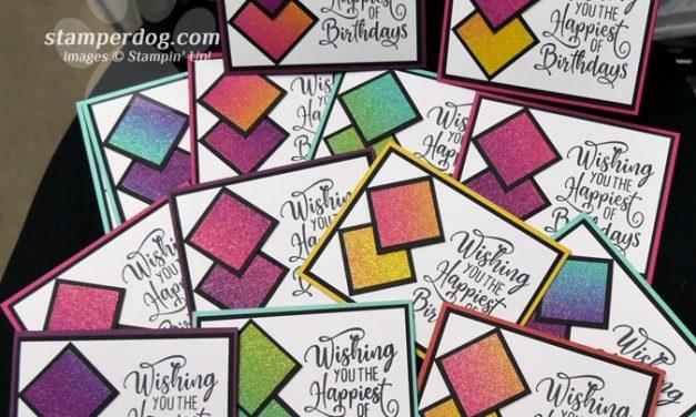 Ready for a Glittery Birthday Card?