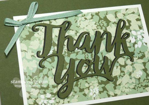Leafy Thank You Card