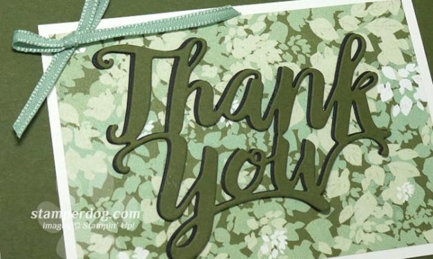 Last Chance for a Leafy Thank You Card